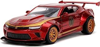 Jada Toys Marvel Iron Man 2016 Chevy Camaro SS,压铸锌,开门,红色/金色