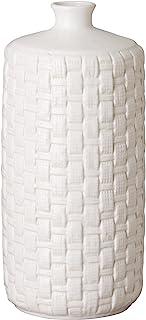 Emissary Home & Garden 白色 RD 编织花瓶,45.72 cm 高