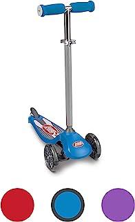 Radio Flyer Lean 'N Glide 滑板车,带发光车轮儿童滑板车蓝色