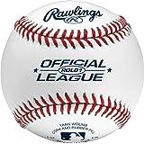Rawlings 凸起的缝合棒球,官方青少年联盟比赛级棒球,罩子,12 盒,ROLB1