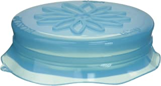 Blossom Mason and Canning Jar Sipping and Drinking Lid Caps, Silicone, For Wide Mouth Size Mason Jars, 4-Inches; Blue; 1 Lid