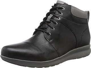 Clarks 女士 Un Adorn Walk 乐福鞋,黑色皮革,8 英码