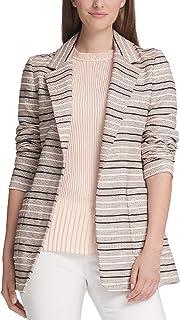 DKNY 女士条纹提花开襟夹克