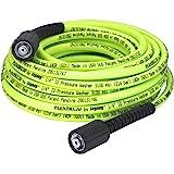 Flexzilla 压力清洗软管带 M22 管接头,0.64 cm x 50 英尺,ZillaGreen - HFZPW…