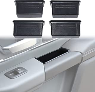 Hoolcar 车门侧储物箱内门把手扶手收纳托盘适用于 2018-2021 Dodge Ram (驾驶员和前/后乘客扶手口袋插入),4 件