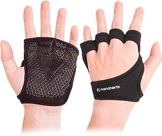 NH 举重健身手套,Callus-Guard Gym Barehand Grip,支持阿尔法交叉训练,划船,举重力,拉力,适合男士和女士