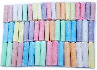 52 支 人行道粉笔 * 多色 8 种颜色 特大尺寸 4 X 1 英寸(约 10.2 X 2.5 厘米)批量套装 适用于儿童户外彩色绘画艺术或户外、街道、车道、可洗