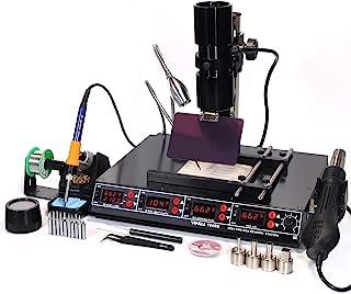 YIHUA 1000B- 4 合 1 站 - 红外 BGA,预热器,焊接站和热空气补工站,外加温度传感器,oC/°F 显示屏,PCB 支架,LED 灯等。