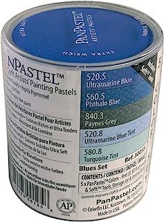 PanPastel 9 Milliliter 超柔软艺术家蜡笔套装,蓝色,5 件装