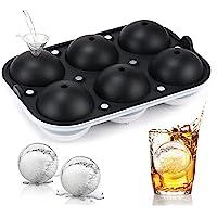 冰块托盘冰球制作模具-JoyHi 威士忌球工艺制冰机冰块模具带冷冻盖的硅胶大号圆形冰块托盘,适用于波本鸡尾酒