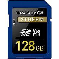 TEAMGROUP XTREEM 128GB UHS-II/U3 SDXC 存储卡 U3 V60 8K 超高清读取速度高…