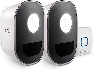 Arlo NETGEAR 2 室内 / 户外智能家庭*灯光 。 无线,耐候性,运动传感器,可充电,多色LED,与亚马逊Alexa兼容(ALS1102)