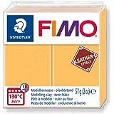 STAEDTLER FIMO 皮革效果 57G 涤纶模型烤箱扣 - 12 种颜色 Child, Adult Saffro…