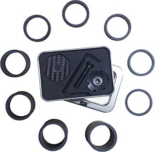 MAJOYLIFE 自行车耳机垫片,碳纤维,耳机顶盖,自行车 1-1/8 英寸,9 件,共 7 个尺寸:1 2 3 5(2 件)10(2 件)15 20 毫米