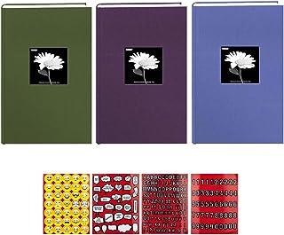Pioneer 相册 10.16 厘米 X 15.24 厘米,3 张,300 张相片织物框架双向备忘录相册套装