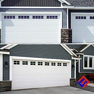 车库门磁性假窗面板 - 人造车库窗户磁铁 - 车库配件(10.16 厘米 x 30.48 厘米,32 个磁铁)