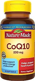 Nature Made CoQ10 软胶囊,有益于心脏,200毫克,40粒†(包装可能会有所不同)