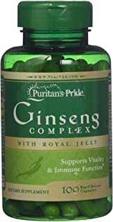 Puritan's Pride Ginseng Complex with Royal Jelly 1000 mg-100 Rapid Release Capsules