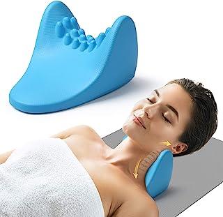 颈椎拉伸器,缓解*,颈部放松器颈部牵引装置枕,带按摩点,用于肌肉放松管理和颈椎对齐*枕颈部曲线矫正器