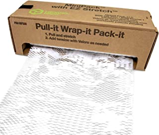 "IDL Packaging HexcelWrap Cushioning White Kraft Paper 15.25"" x 300' in Self-Dispensed Box – Eco-Friendly Honeycomb Alterna..."
