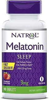 Natrol (芮特) - Melatonin快速溶化草莓 3 镁。90 片剂