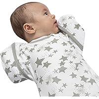 婴儿襁褓袋带臂   手臂/外出过渡期襁褓袋适用于 0-6 个月新生儿   8-18 磅   婴儿睡袋,*棉