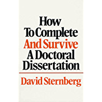 How to Complete and Survive a Doctoral Dissertation (English…
