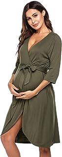 Ekouaer 睡衣女式睡衣无袖蕾丝边针织休闲裙