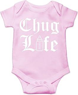AW Fashions Chug Life - 模仿可爱新奇趣味婴儿连体婴儿连体衣(粉色,新生儿)