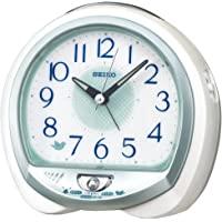 Seiko 精工 白珍珠 13×14×9.6cm 座钟 闹钟 桌上时钟 模拟 QM748W