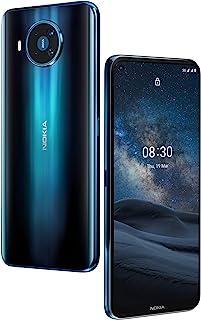 Nokia 诺基亚 8.3 5G手机,四摄像头(后侧),ZEISS蔡司光学认证,6.81英寸显示屏,5G互连,Android One,高通骁龙,双SIM卡,极地之夜