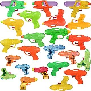 NUOBESTY 水枪射击玩具,24 件随机颜色和风格水射击玩具喷射夏季游泳池玩具儿童海滩派对礼品|16 X 9. 5 X 2. 7 厘米