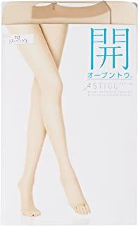 ATSUGI 厚木 女士 开】露趾 连裤丝袜 ASTIGU 女士 NEW黑色 日本 L~LL (日本サイズ2L相当)