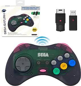 retro-bit SEGA Saturn® 8-Button Arcade Pad 2.4GHz Wireless