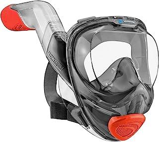 WildHorn Outfitters Seaview 180° V2 全脸*管面罩,带 FLOWTECH 高级*系统 - 提供自然*的浮潜体验 - 全景侧呼潜水套装