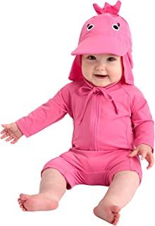 Cuddle Club 婴幼儿连体泳衣   UPF 50+ 全天防紫外线婴儿日光衣 粉色(Flamingo) 6-12 Months