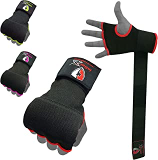 INFINIX 运动拳击手包裹内凝胶手套用于拳击,手套下弹性加垫绷带,男女快速包裹,拳头保护,非常适合综合格斗训练