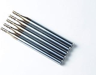 Jarrow Tool 碳化物方形鼻端铣刀,适用于 CNC 机器铣削工具,适用于合金钢/硬化金属 - 4 槽 - 55HRC TiAlN 涂层(5 件,3/32)