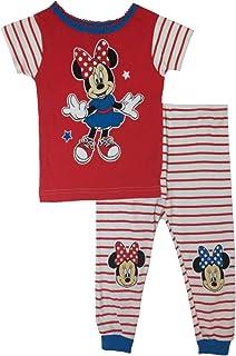 Minnie Mouse *女婴两件套睡衣套装红色/白色/蓝色