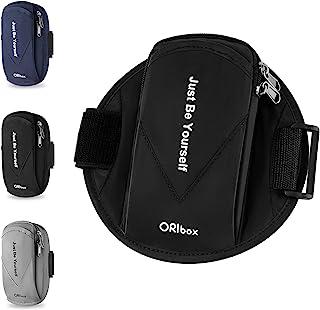 Oribox 跑步臂带,带双层大容量口袋