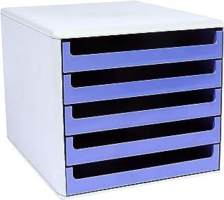 "Metzger & Mendle 30050956BE 抽屉盒,5抽屉回收,认证""Blauer Engel""蓝色"