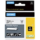 Dymo Rhino 工业用尼龙标签,24毫米x 3.5米,黑色和白色 19 mm x 3,5 m schwarz au…