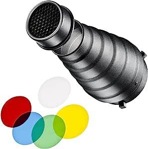 walimex 通用聚光附件套装15647 C&CR Serie Schwarz, Blau, Grün, Rot, Transparent, Gelb