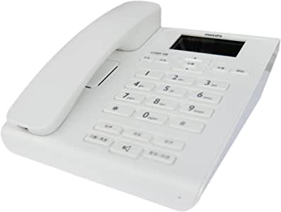 PHILIPS 飞利浦 CORD108 来电显示电话机(白色)