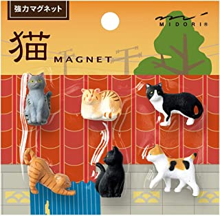 DESIGNPHIL Midori 磁铁 迷你 猫 A 6个装 49870006