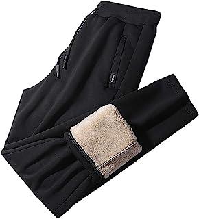 Flygo 男式保暖羊毛慢跑裤夏尔巴衬里运动跑步运动裤