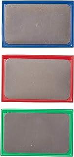 DMT D3EFC 3 英寸直径锋利卷发器,信用卡尺寸 - 超细,精致和粗糙钻石 - 一套 3 件 1-包每包 1 条 D3EFC