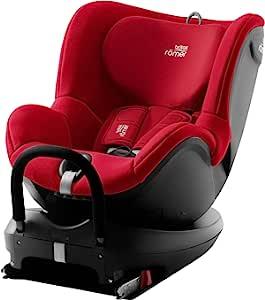 Britax 宝得适 Römer 汽车安全座椅DUALFIX 2 R,可旋转,ISOFIX,Group0 + / 1(出生-18公斤),0至4岁婴儿,火红色