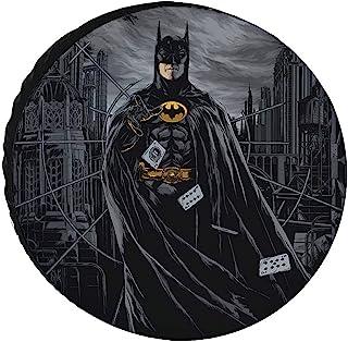 Hfieath 蝙蝠男士备用轮胎罩,防尘防水日光和牛津布车轮套 SUV 露营旅行汽车配件 15 英寸