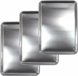 Nagao 燕三条 备餐用不锈钢托盘 大 3件套 24.5×17.6厘米 日本制造